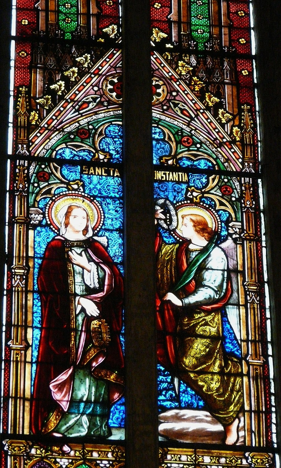 Excideuil église vitrail choeur (7)
