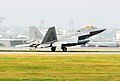 F-22 Raptor rear seen at landing.jpg