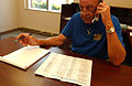 FEMA - 33005 - SBA representative on the phone making calls in Ohio.jpg