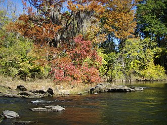 Coosa River - Fall colors on the Coosa River near Wetumpka, Alabama