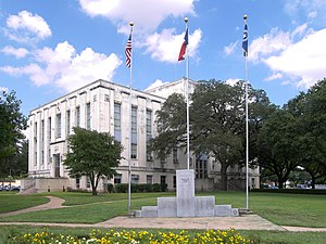 National Register of Historic Places listings in Falls County, Texas - Image: Falls county courthouse