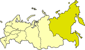Far Eastern economic region - Far Eastern economic region on the map of Russia