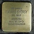 Faragó György stolperstein (Budapest-11 Bartók Béla út 52).jpg