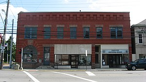 National Register of Historic Places listings in Madison County, Ohio - Image: Farmers National Bank in Plain City