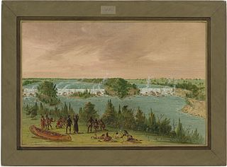 Father Hennepin and Companions at the Falls of St. Anthony.  May 1, 1680