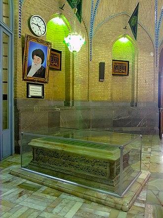 Seyyed Hossein Borujerdi - Grave of Grand Ayatollah Hossein Borujerdi in Fatima Masumeh Shrine