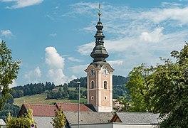 Feldkirchen Stadtpfarrkirche Mariä Himmelfahrt Kirchturm 02082018 6101.jpg