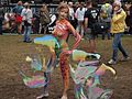 Female body painting model and soap bubbles at WBF 2016.jpg