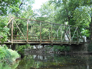 Pennypack Creek - Fetters Mill Road Bridge in Fetter's Mill Village Historic District.