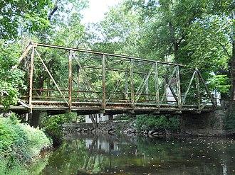 Pennypack Creek - Fetters Mill Road Bridge in Fetter's Mill Village Historic District.