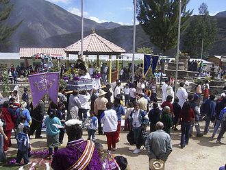 Chachapoyas Province - The town of Magdalena celebrating its festivities.