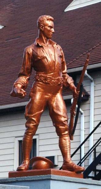 Pietro Montana - Fighting Doughboy (1926), Wanaque, New Jersey.