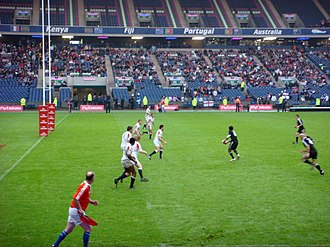 Uche Odouza - Oduoza playing for England at the 2009 Scotland Sevens