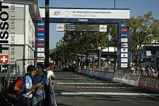 Finish of the 2013 UCI Road World Championships.JPG