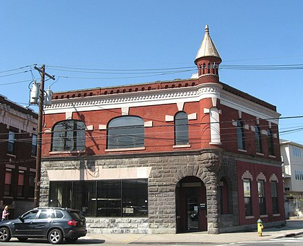 Former Engine 8 firehouse in the Ironbound neighborhood Firehouse 8 Filmore jeh.JPG
