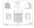 First Grant House, 121 South High Street, Galena, Jo Daviess County, IL HABS ILL,43-GALA,2- (sheet 1 of 2).png