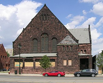 Religious Structures of Woodward Avenue Thematic Resource - Image: First Unitarian Church Detroit 2