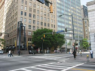 Five Points, Atlanta - The Five Points intersection, looking northwest