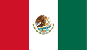 Reverso de la bandera de México.