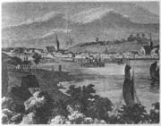 Ansicht von Flensburg, um 1830