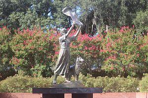 Florence Martus - Savannah's Waving Girl statue.
