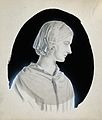 Florence Nightingale. Pencil drawing with ink and gouache. Wellcome V0026909.jpg