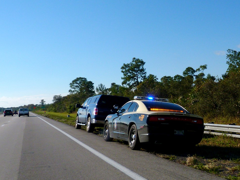 Florida Highway Patrol on Trafffic Stop