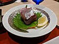 Flying fish sashimi at JR Hotel Yakushima.jpg