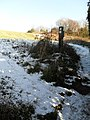 Footpath marker on Pewley Down - geograph.org.uk - 1631840.jpg