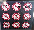 Forbidden signs to exhibitions at Palazzo Pitti museum compound.jpg