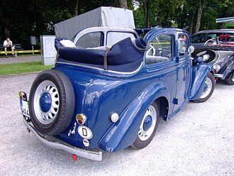 Cabrio coach - A Ford Eifel cabrio coach.