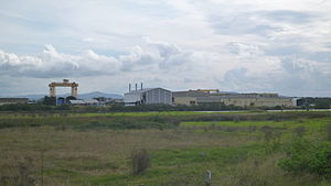 Forgacs shipyard Tomago 03 from Laverick Ave 20150412.jpg