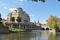 Former Empire Hotel and Pulteney Bridge, Bath.jpg