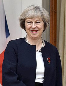 Former Prime Minister of United Kingdom, Ms. Theresa May, at Hyderabad House, in New Delhi on November 07, 2016 (5) (cropped).jpg