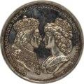 Framsida av medalj med bild av Gustav IV Adolf och Fredrika Wilhelmina i profil samt text - Skoklosters slott - 99537.tif