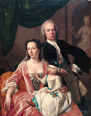 Francina Margaretha Sichterman, her husband Scato Gockinga and their eldest daughter Tateke Helena