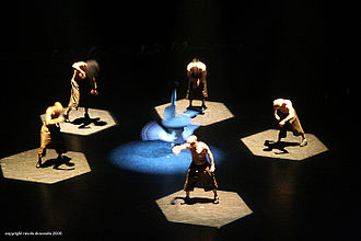 Hip-hop theater - French hip-hop dance company Franck II Louise performing at Breakin' Convention 2006.