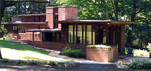 Wausau, Wisconsin - This Frank Lloyd Wright-designed house is one of two in the Andrew Warren Historic District. Several Prairie School houses are located in Wausau.