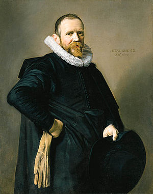 Portrait of a Woman in a Chair - Image: Frans Hals portrait of a 52 year old man with ruff collar holding a hat