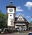 Freiburger Schwabentor mit Stadtbahn (Urbos) 13.jpg