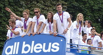France at the 2012 Summer Olympics - Returning French medallists greeted on the Champs-Élysées on 13 August 2012.