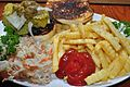 French fries, ketchup and hamburger.jpg