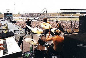 Hungarian metal - FreshFabrik performing live in Prague, 2001, supporting AC/DC and Rammstein