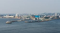 A panorama view of Fujisawa, from Enoshima seaside
