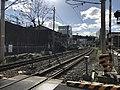 Fukuhoku Yutaka Line on west side of Orio Station.jpg