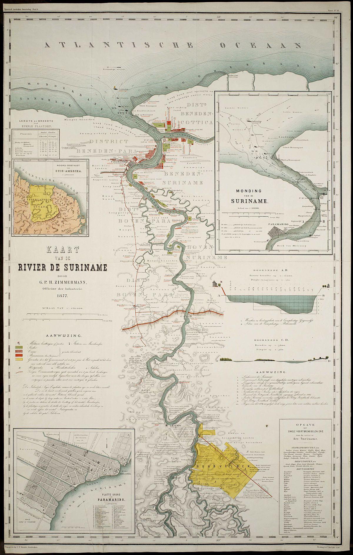 Suriname River Wikipedia - Suriname map