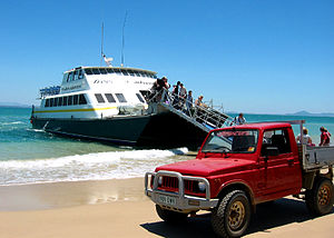 Great Keppel Island - Ferry service from Yeppoon deposit passengers directly to the island's main beach.