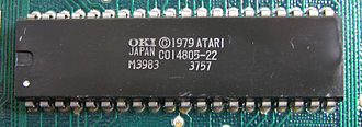 CTIA and GTIA - NTSC GTIA chip manufactured by Okidata