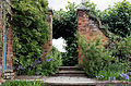 Garden steps in Sundial Garden northeast Hatfield House Herts England.jpg