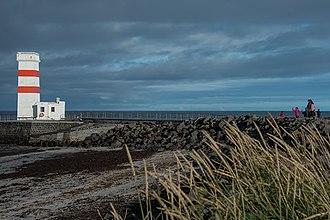 Garður - The old lighthouse in Garður at Reykjanes Peninsula Iceland